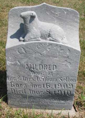 SELLON, MILDRED - Cedar County, Nebraska   MILDRED SELLON - Nebraska Gravestone Photos