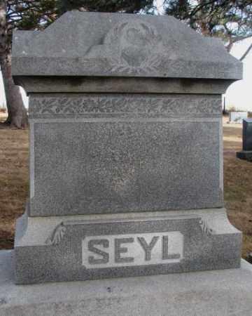 SEYL, PLOT - Cedar County, Nebraska   PLOT SEYL - Nebraska Gravestone Photos