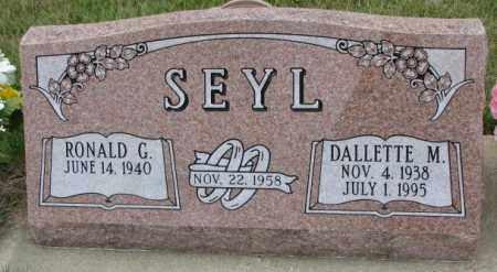 SEYL, RONALD G. - Cedar County, Nebraska   RONALD G. SEYL - Nebraska Gravestone Photos