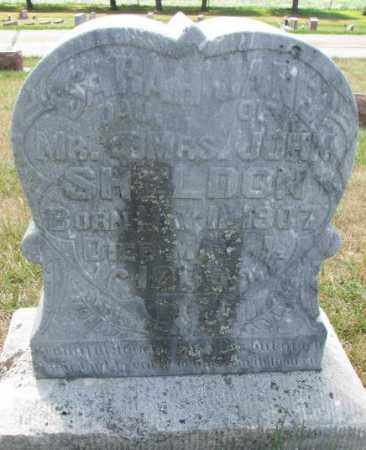 SHELDON, SARAH JANE - Cedar County, Nebraska | SARAH JANE SHELDON - Nebraska Gravestone Photos