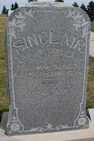 SINCLAIR, ABRAM - Cedar County, Nebraska | ABRAM SINCLAIR - Nebraska Gravestone Photos