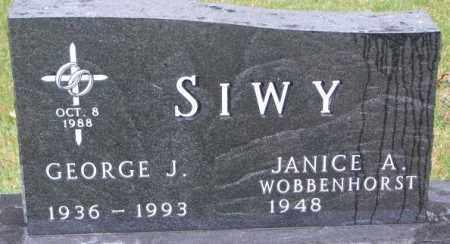 SIWY, JANICE A. - Cedar County, Nebraska   JANICE A. SIWY - Nebraska Gravestone Photos