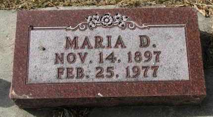 SMITH, MARIA D. - Cedar County, Nebraska | MARIA D. SMITH - Nebraska Gravestone Photos