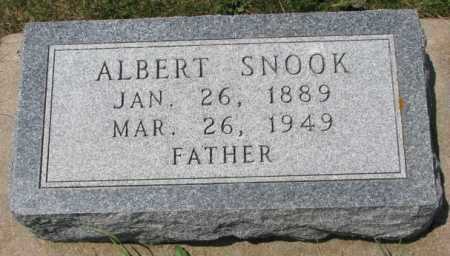 SNOOK, ALBERT - Cedar County, Nebraska | ALBERT SNOOK - Nebraska Gravestone Photos