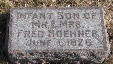 SOEHNER, INFANT SON - Cedar County, Nebraska   INFANT SON SOEHNER - Nebraska Gravestone Photos