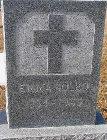 SOLKO, EMMA - Cedar County, Nebraska   EMMA SOLKO - Nebraska Gravestone Photos