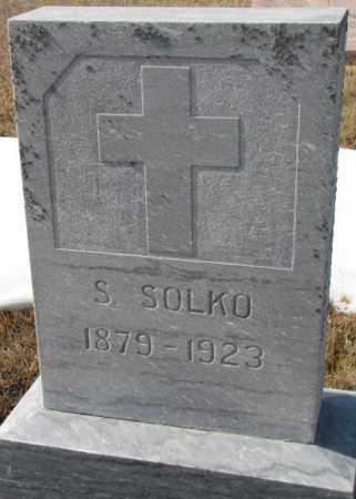 "SOLKO, STEPHAN ""STEVE"" - Cedar County, Nebraska | STEPHAN ""STEVE"" SOLKO - Nebraska Gravestone Photos"