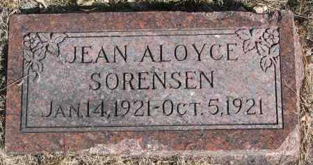 SORENSEN, JEAN ALOYCE - Cedar County, Nebraska | JEAN ALOYCE SORENSEN - Nebraska Gravestone Photos