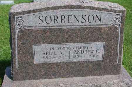 SORRENSON, ANDREW C. - Cedar County, Nebraska   ANDREW C. SORRENSON - Nebraska Gravestone Photos