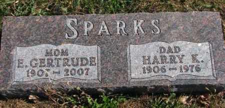 SPARKS, E. GERTRUDE - Cedar County, Nebraska | E. GERTRUDE SPARKS - Nebraska Gravestone Photos