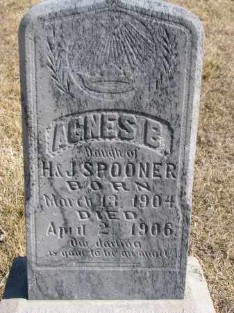 SPOONER, AGNES E. - Cedar County, Nebraska   AGNES E. SPOONER - Nebraska Gravestone Photos