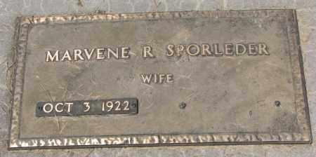 SPORLEDER, MARVENE R. - Cedar County, Nebraska   MARVENE R. SPORLEDER - Nebraska Gravestone Photos
