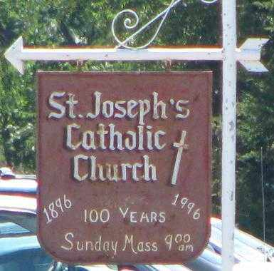 *ST. JOSEPH'S CATHOLIC CHURCH, SIGN - Cedar County, Nebraska   SIGN *ST. JOSEPH'S CATHOLIC CHURCH - Nebraska Gravestone Photos