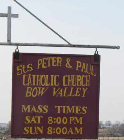*ST. PETER & PAUL, ROAD SIGN - Cedar County, Nebraska | ROAD SIGN *ST. PETER & PAUL - Nebraska Gravestone Photos