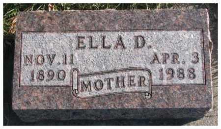 STAPELMAN, ELLA D. - Cedar County, Nebraska | ELLA D. STAPELMAN - Nebraska Gravestone Photos