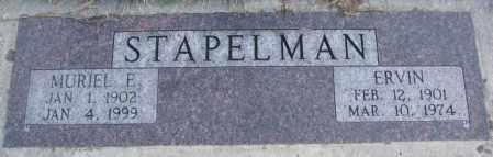 STAPELMAN, MURIEL E. - Cedar County, Nebraska | MURIEL E. STAPELMAN - Nebraska Gravestone Photos