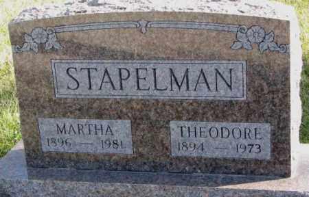 STAPELMAN, THEODORE - Cedar County, Nebraska | THEODORE STAPELMAN - Nebraska Gravestone Photos