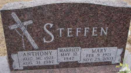 STEFFEN, ANTHONY - Cedar County, Nebraska | ANTHONY STEFFEN - Nebraska Gravestone Photos