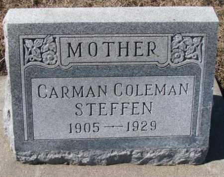 STEFFEN, CARMAN - Cedar County, Nebraska | CARMAN STEFFEN - Nebraska Gravestone Photos