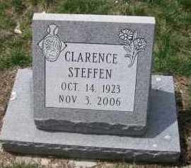 STEFFEN, CLARENCE - Cedar County, Nebraska | CLARENCE STEFFEN - Nebraska Gravestone Photos
