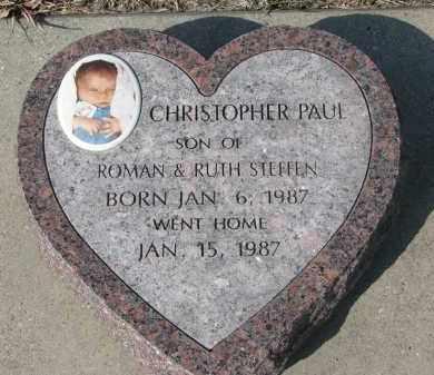 STEFFEN, CHRISTOPHER PAUL - Cedar County, Nebraska   CHRISTOPHER PAUL STEFFEN - Nebraska Gravestone Photos