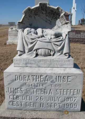 STEFFEN, DORATHEA INSE - Cedar County, Nebraska | DORATHEA INSE STEFFEN - Nebraska Gravestone Photos