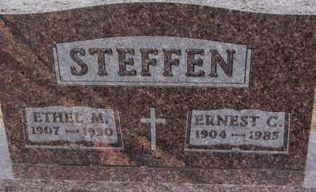 STEFFEN, ERNEST C. - Cedar County, Nebraska | ERNEST C. STEFFEN - Nebraska Gravestone Photos