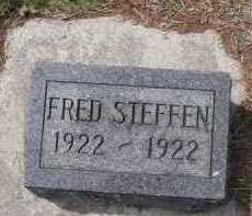 STEFFEN, FRED - Cedar County, Nebraska | FRED STEFFEN - Nebraska Gravestone Photos