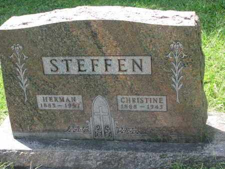 STEFFEN, CHRISTINE - Cedar County, Nebraska | CHRISTINE STEFFEN - Nebraska Gravestone Photos