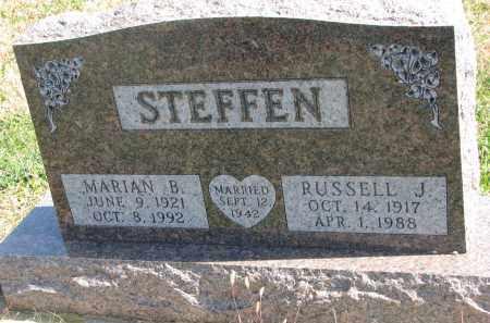 STEFFEN, RUSSELL J. - Cedar County, Nebraska   RUSSELL J. STEFFEN - Nebraska Gravestone Photos