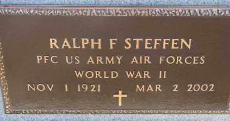 STEFFEN, RALPH F. (WW II ) - Cedar County, Nebraska | RALPH F. (WW II ) STEFFEN - Nebraska Gravestone Photos