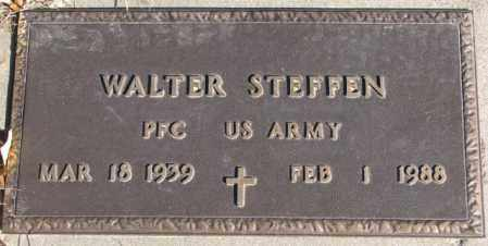 STEFFEN, WALTER (MILITARY MARKER) - Cedar County, Nebraska   WALTER (MILITARY MARKER) STEFFEN - Nebraska Gravestone Photos