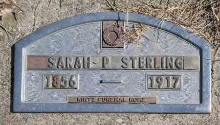 STERLING, SARAH P. - Cedar County, Nebraska | SARAH P. STERLING - Nebraska Gravestone Photos