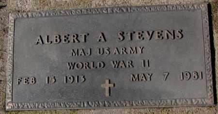 STEVENS, ALBERT A. (WW II) - Cedar County, Nebraska | ALBERT A. (WW II) STEVENS - Nebraska Gravestone Photos