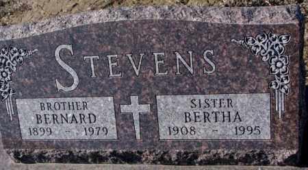 STEVENS, BERNARD - Cedar County, Nebraska | BERNARD STEVENS - Nebraska Gravestone Photos