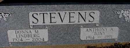 "STEVENS, ANTHONY A. ""TONY"" - Cedar County, Nebraska   ANTHONY A. ""TONY"" STEVENS - Nebraska Gravestone Photos"