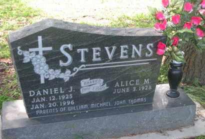 STEVENS, DANIEL J. - Cedar County, Nebraska | DANIEL J. STEVENS - Nebraska Gravestone Photos