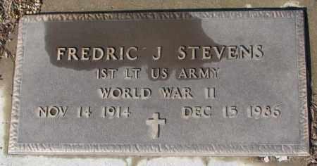 STEVENS, FREDRIC J. (WW II) - Cedar County, Nebraska | FREDRIC J. (WW II) STEVENS - Nebraska Gravestone Photos