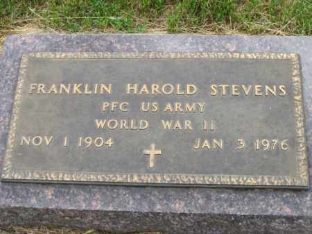 STEVENS, FRANKLIN HAROLD - Cedar County, Nebraska | FRANKLIN HAROLD STEVENS - Nebraska Gravestone Photos