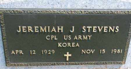 STEVENS, JEREMIAH J. (MILITARY) - Cedar County, Nebraska | JEREMIAH J. (MILITARY) STEVENS - Nebraska Gravestone Photos