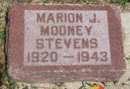 STEVENS, MARION J. - Cedar County, Nebraska   MARION J. STEVENS - Nebraska Gravestone Photos