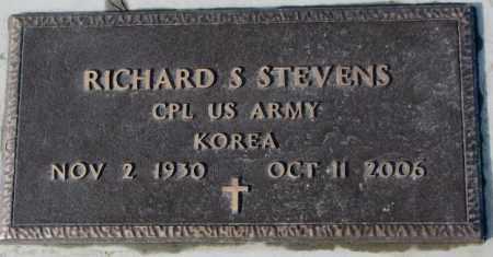 STEVENS, RICHARD S. (KOREA) - Cedar County, Nebraska   RICHARD S. (KOREA) STEVENS - Nebraska Gravestone Photos