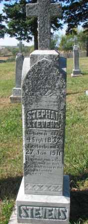 STEVENS, STEPHAN - Cedar County, Nebraska | STEPHAN STEVENS - Nebraska Gravestone Photos