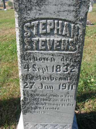 STEVENS, STEPHAN (CLOSEUP) - Cedar County, Nebraska   STEPHAN (CLOSEUP) STEVENS - Nebraska Gravestone Photos