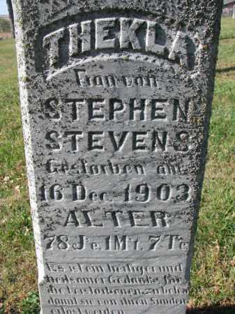 STEVENS, THEKLA (CLOSEUP) - Cedar County, Nebraska   THEKLA (CLOSEUP) STEVENS - Nebraska Gravestone Photos