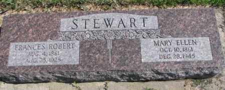 STEWART, FRANCES ROBERT - Cedar County, Nebraska | FRANCES ROBERT STEWART - Nebraska Gravestone Photos