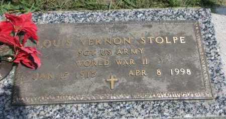STOLPE, LOUIS VERNON (WW II) - Cedar County, Nebraska | LOUIS VERNON (WW II) STOLPE - Nebraska Gravestone Photos