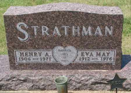 STRATHMAN, EVA MAY - Cedar County, Nebraska | EVA MAY STRATHMAN - Nebraska Gravestone Photos