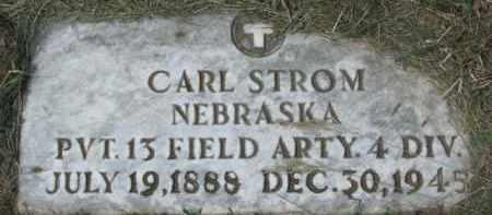 STROM, CARL - Cedar County, Nebraska   CARL STROM - Nebraska Gravestone Photos