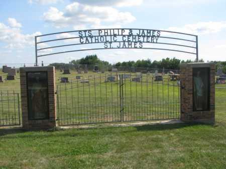 *ST'S PHILIP & JAMES, OVERVIEW - Cedar County, Nebraska | OVERVIEW *ST'S PHILIP & JAMES - Nebraska Gravestone Photos